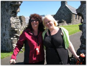 Gillian and Jolene at Dunluce Castle
